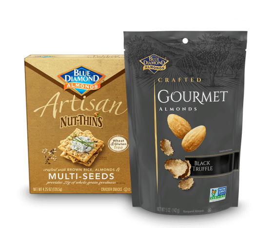 Black Truffle Almonds and Artisan Multi-Seeds Nut-Thins
