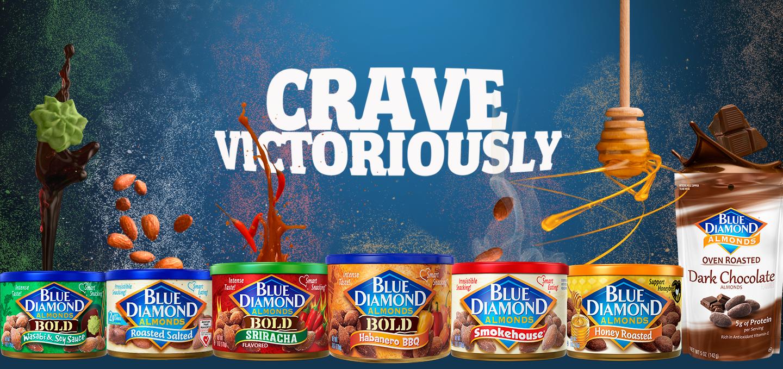 Almendras de Snack de Blue Diamond. ¡Apetezca victoriosamente!
