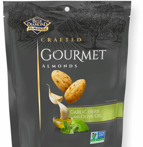 Crafted Gourment Almonds: Garlic, Herb, and Olive Oil