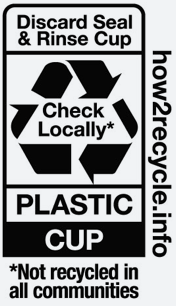Plastic Cup Recycling Label