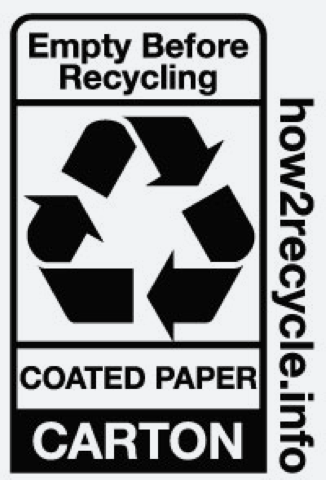 Coated Paper Carton Recycling Label