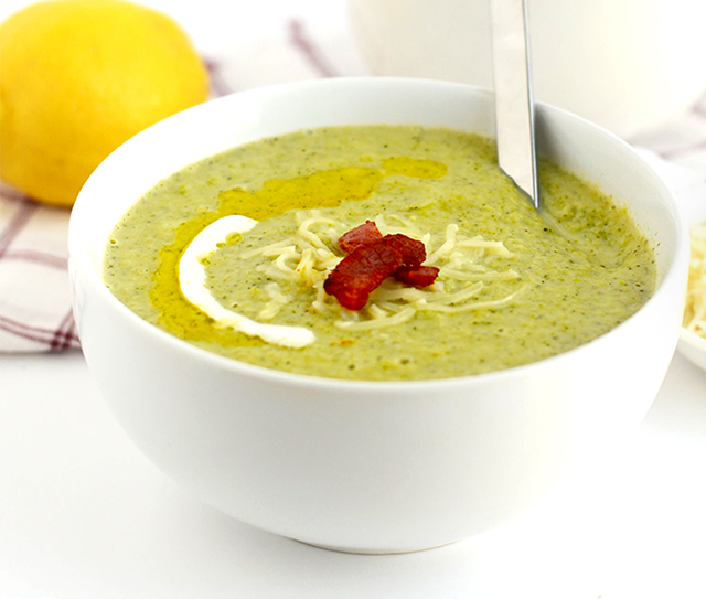 Light Broccoli Cheese Soup