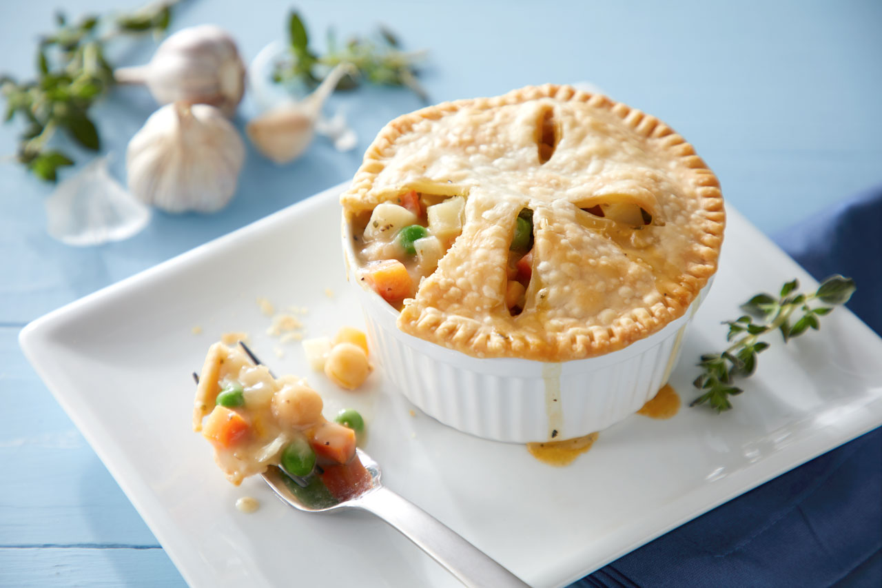 Individual Chickpea Pot Pies