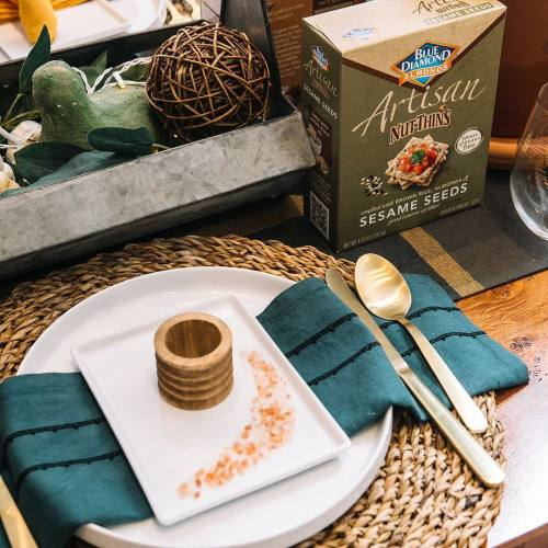 Holiday Dinner Table with Seasame Nut Thins