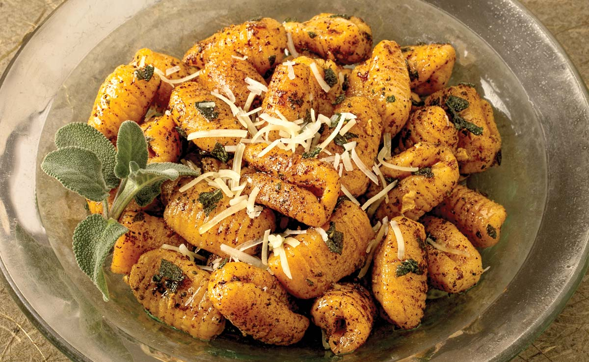 Sweet Potato Gnocchi in Brown Sage Sauce