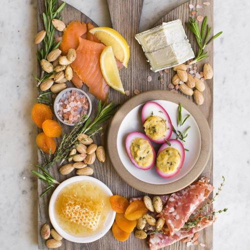 Holiday Spread with Salmon and Deviled Eggs