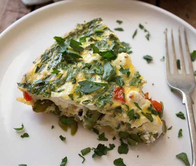 Crustless Vegetable Quiche