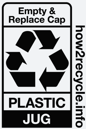 Plastic Jug Recycling Label