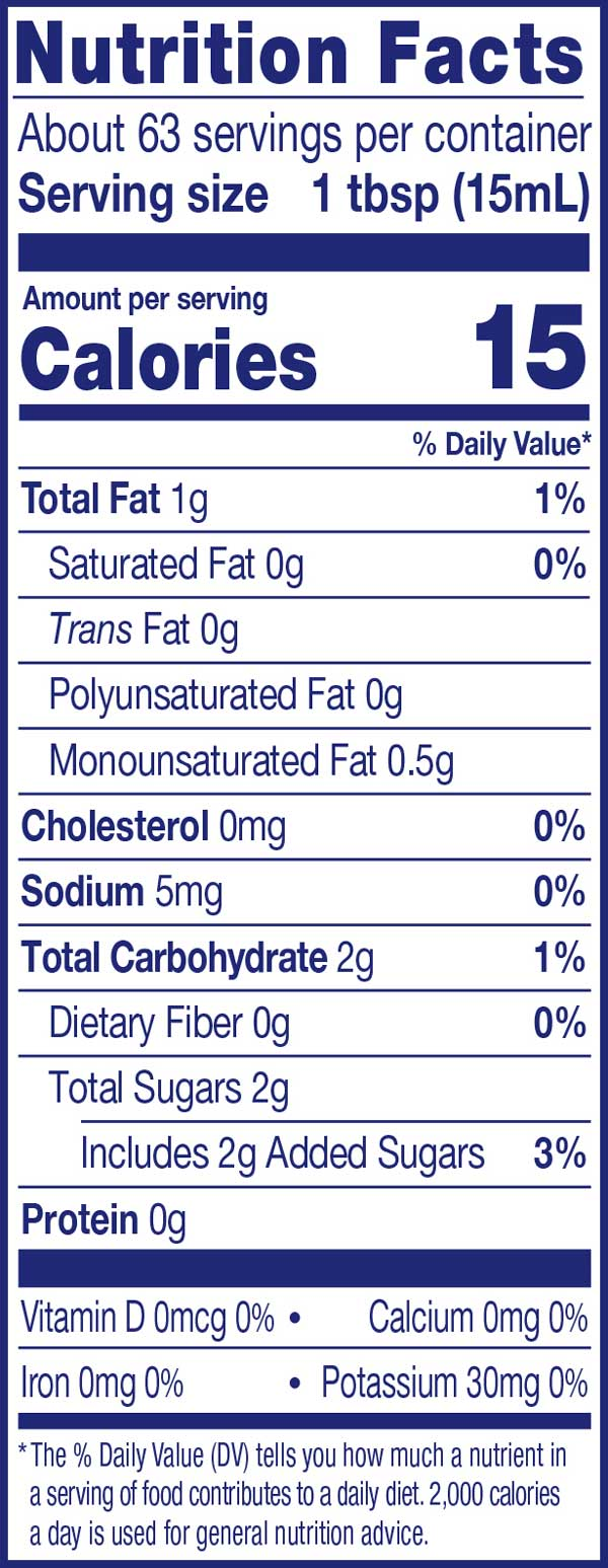 Vanilla Creamer Nutrition Facts