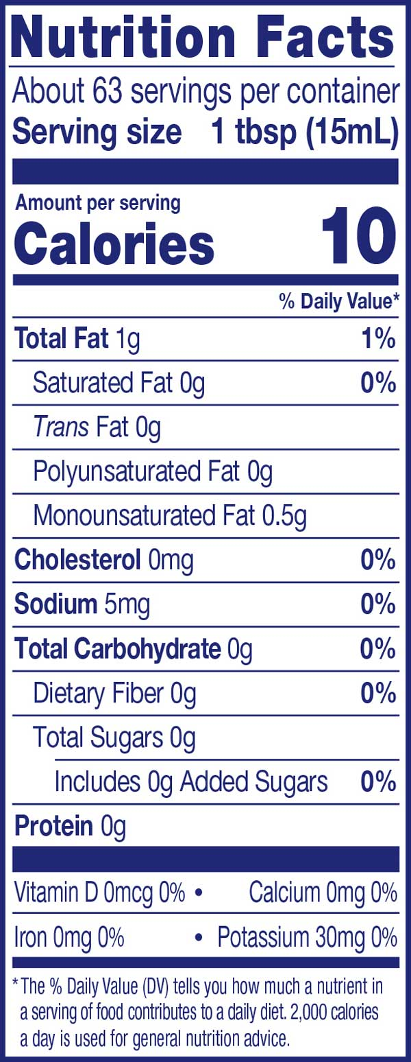 Unsweetened Original Creamer Nutrition Facts