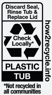 Plastic Tub Recycling Label