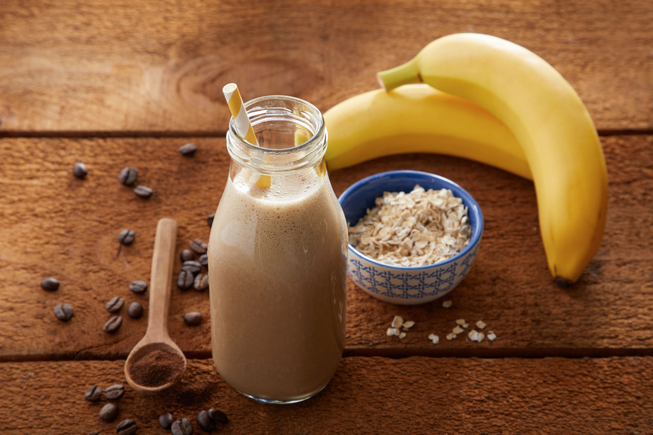 Coffee, Banana & Oatmeal Smoothie