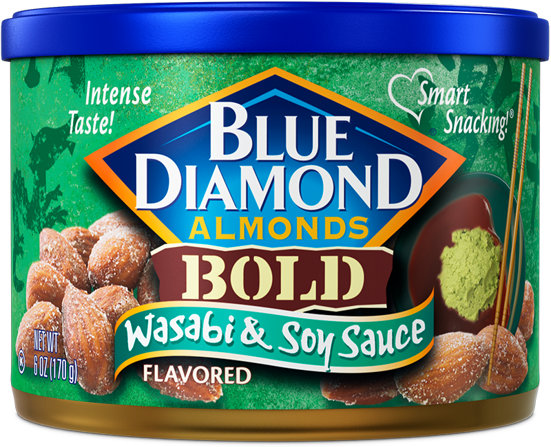 Wasabi & Soy Sauce Flavored Almonds