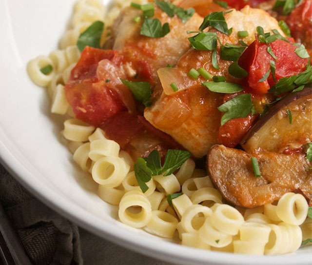 Chicken Breast with Eggplant and Tomato