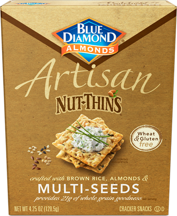 Multiseed Artisan Nut Thins | Whole Grain Crackers | Blue