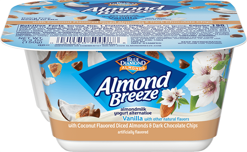 Almondmilk Yogurt + Coconut Flavored Diced Almonds & Dark Chocolate Chips
