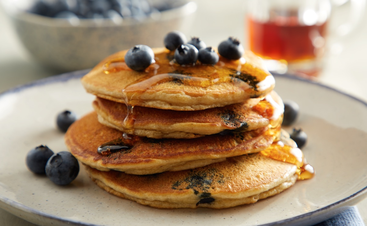 Browned-Butter Blueberry Pancakes