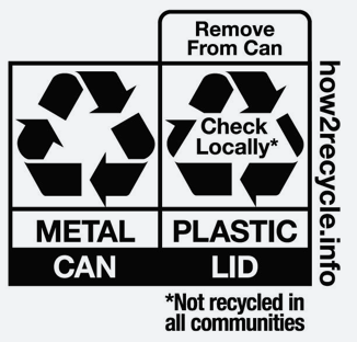 Metal Can Recycling Label