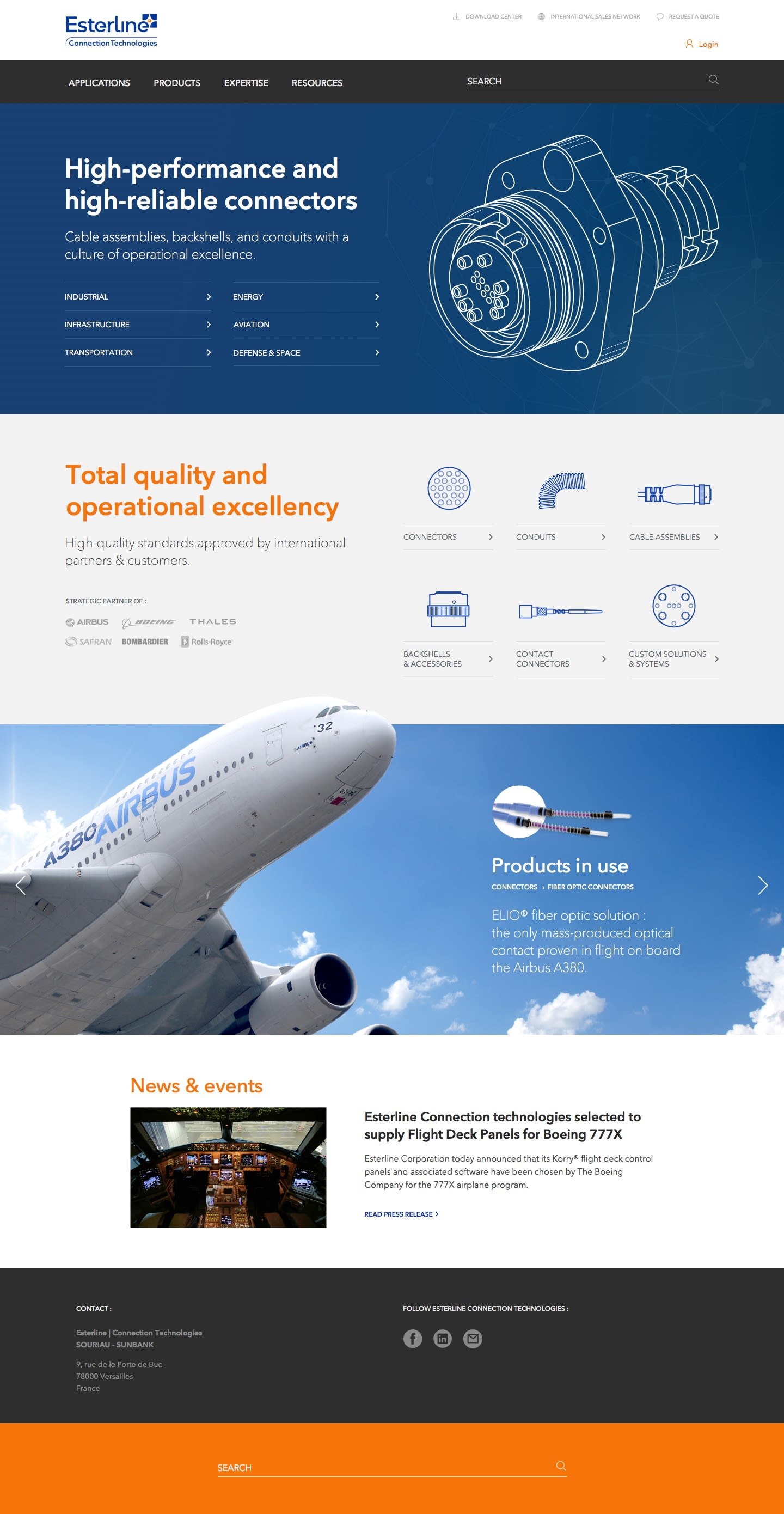 Esterline - Homepage