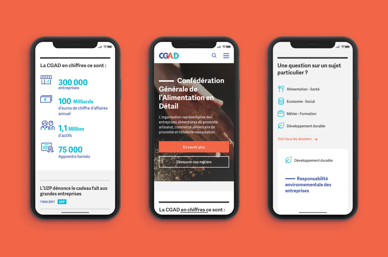 CGAD - Homepage mobile