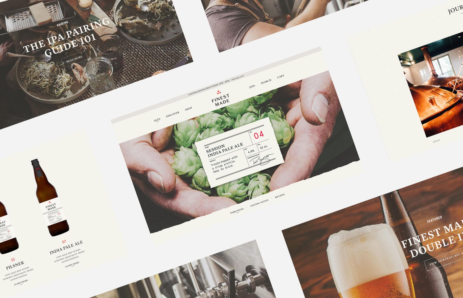 Finest Made Craft Beer Brand Website Design