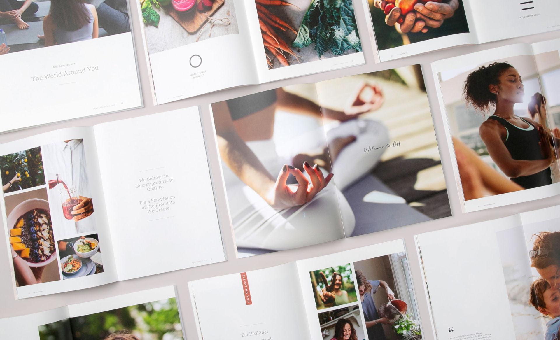 OH Beverage Brand Brochure Design