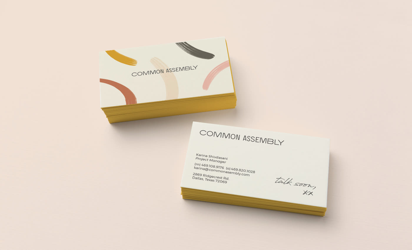 Common Assembly Business Cards Design