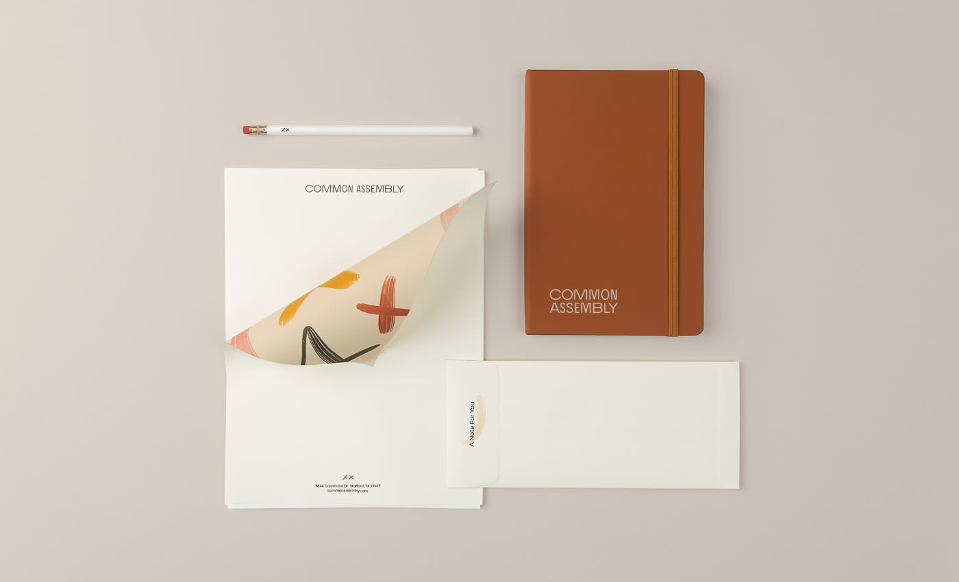 Common Assembly Stationary and Business Materials Design