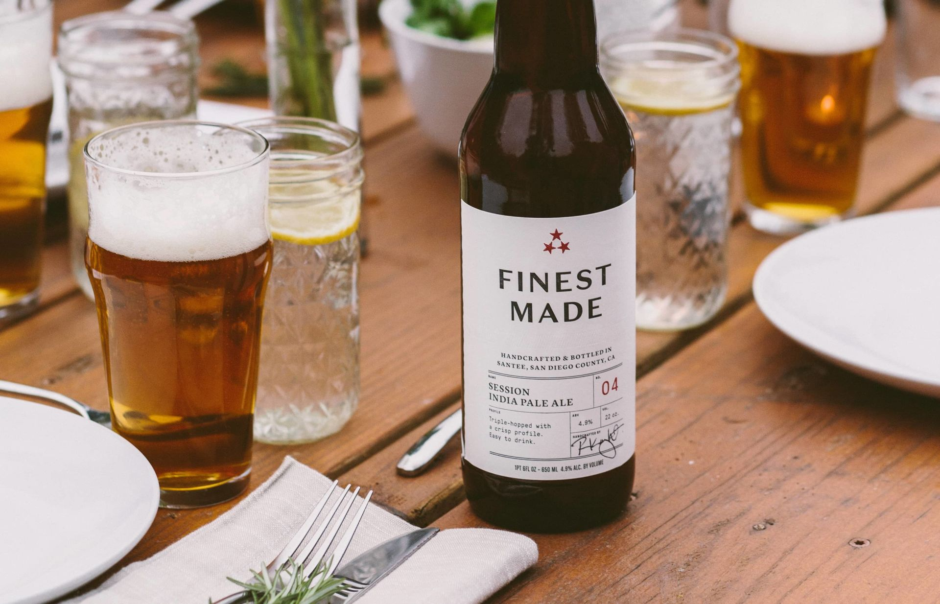 Finest Made Craft Beer Label Design