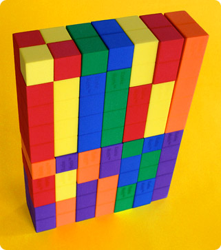 Number Blocks stacked