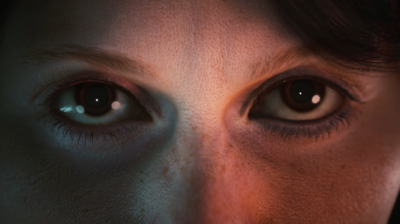 Close up on facial render of a women.  - Homepage / animation