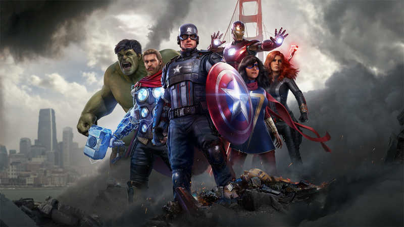 cover image of video game Marvels Avengers