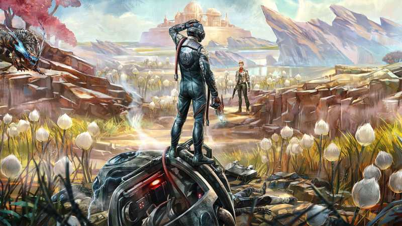 cover image of video game The Outer Worlds