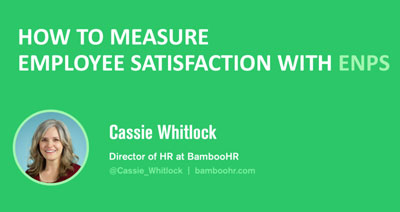 Measuring Employee Satisfaction with eNPS