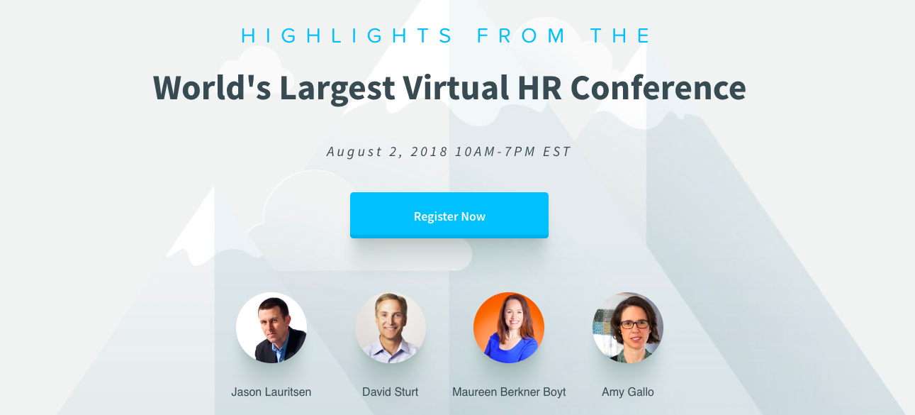 Upcoming event Highlights from the World's Largest Virtual Conference, August 2018