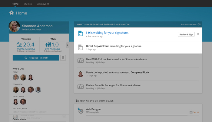 Digital signature notifications keep you on track.