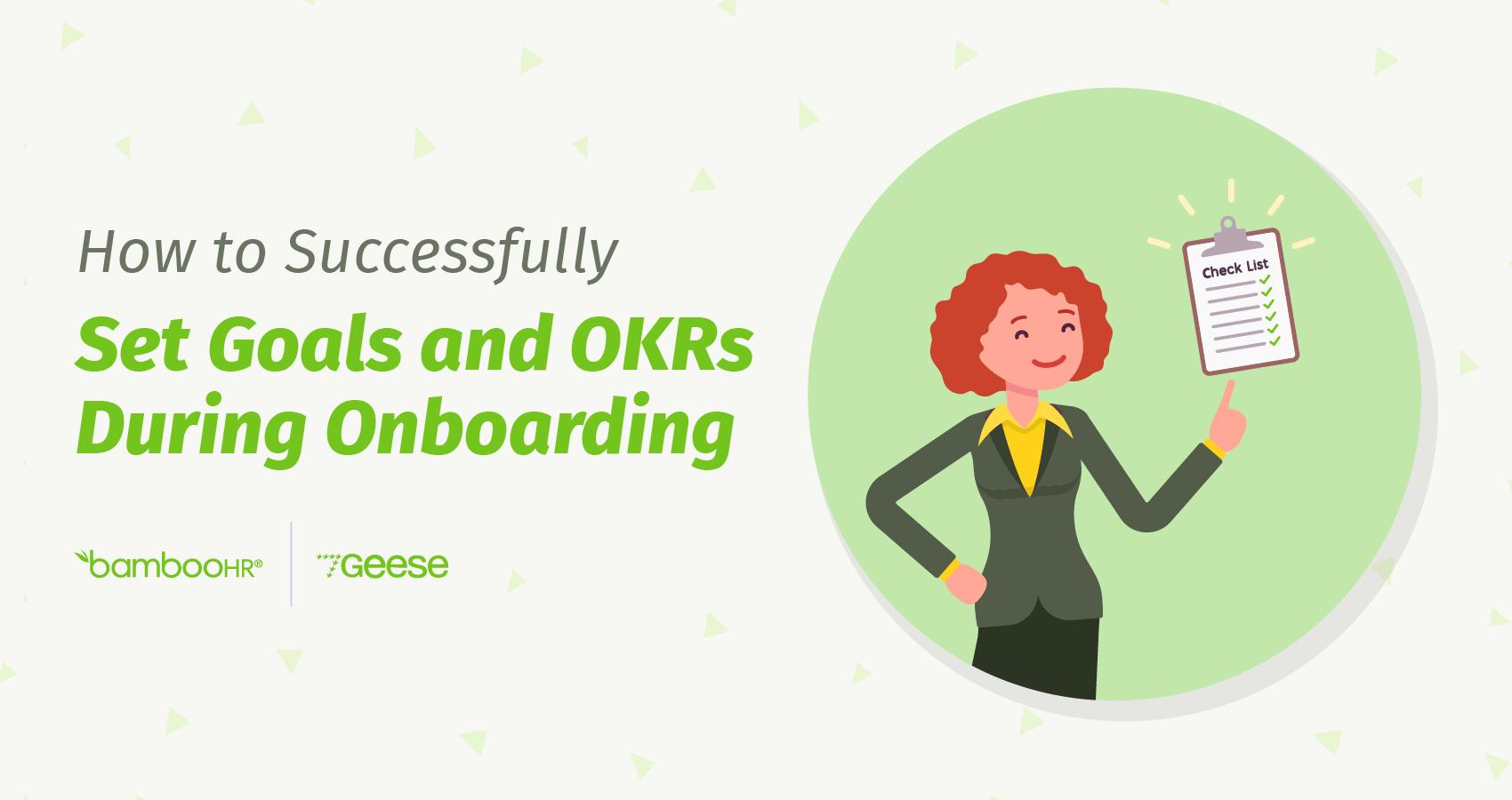 如何在入职期间成功设定目标和OKR