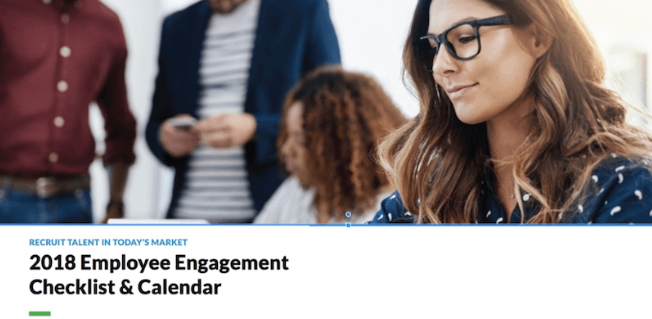 2018 Employee Engagement Checklist & Calendar