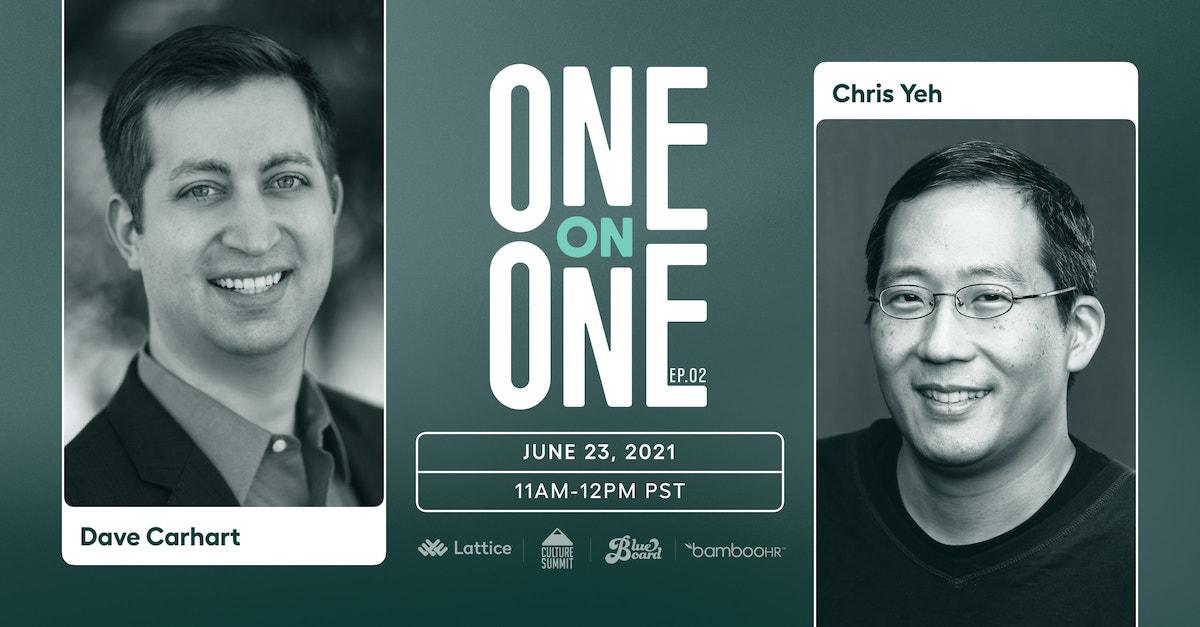 Chris Yeh和Dave Carhart的一对一节目