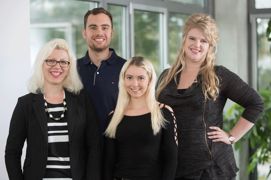 The Sales Team at Boxcryptor Consists of Elisabeth Demireva, Galina Lapteva, Sopie Kartheuser, and Philipp Wittek.