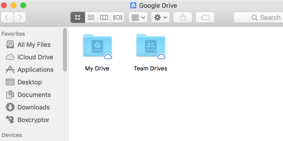 Google Drive File Stream Team Drives