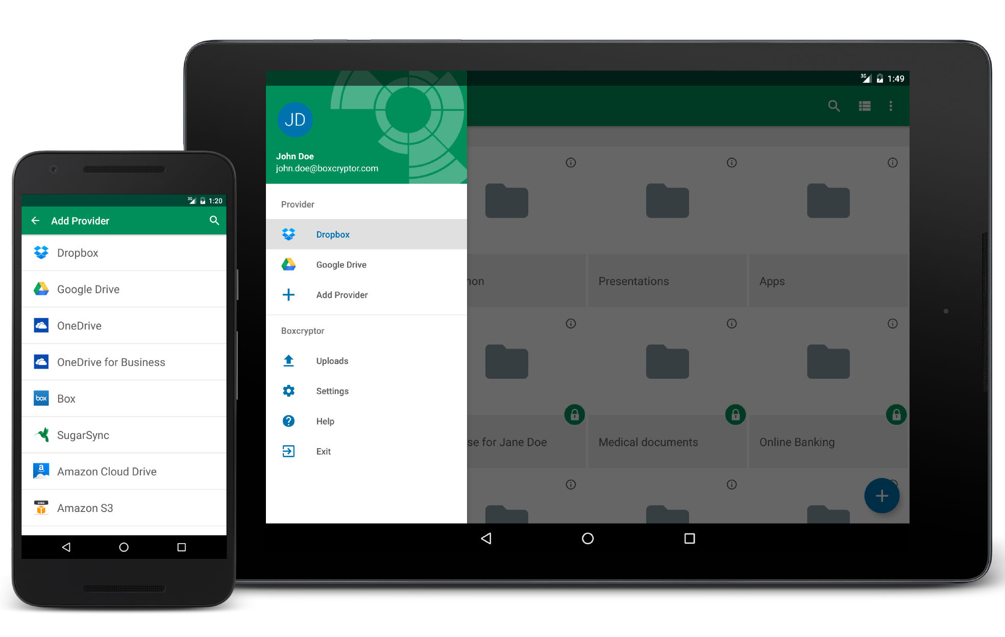 BoxCryptor for Android freeware screenshot