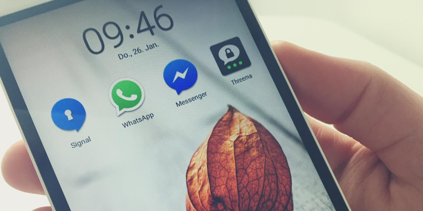 Messenger Image – WhatsApp, Threema, Signal