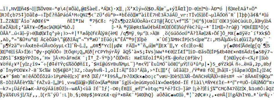 This ist how Encrypted Data Looks Like, when You Open them Without the right Key.