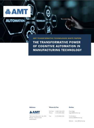 Cognitive Automation in Manufacturing Technology Cover