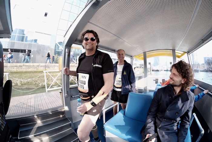 Watertaxi - marathon Gerard en Peter