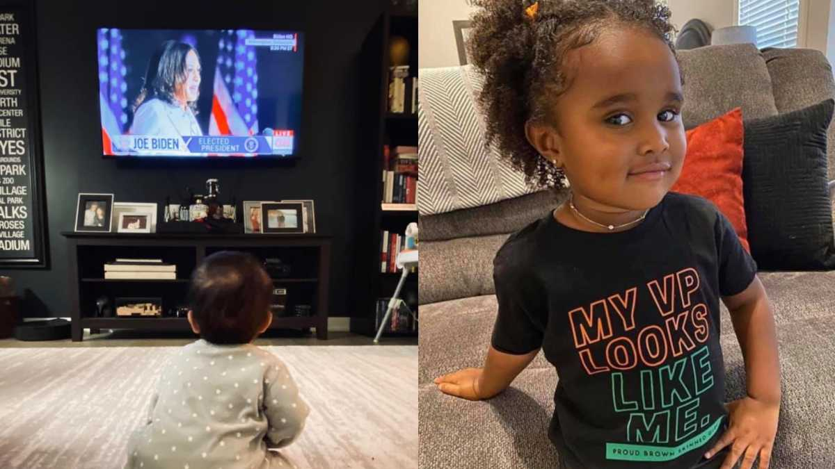 Parents Are Sharing What Kamala Harris Historic Win Means To Little Black Brown Girls Mom Com