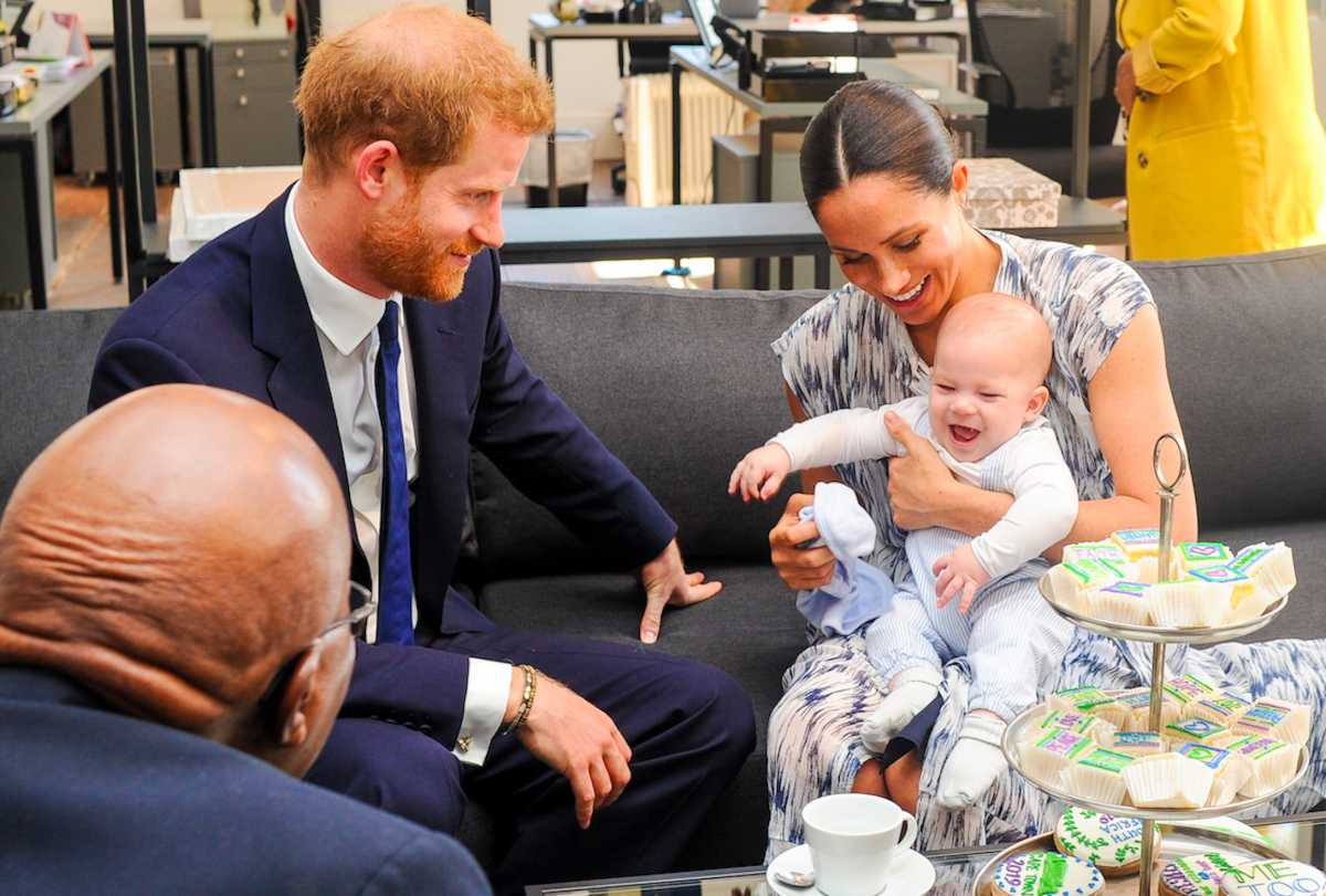 meghan markle and prince harry s son archie stole the show during family birthday call mom com meghan markle and prince harry s son