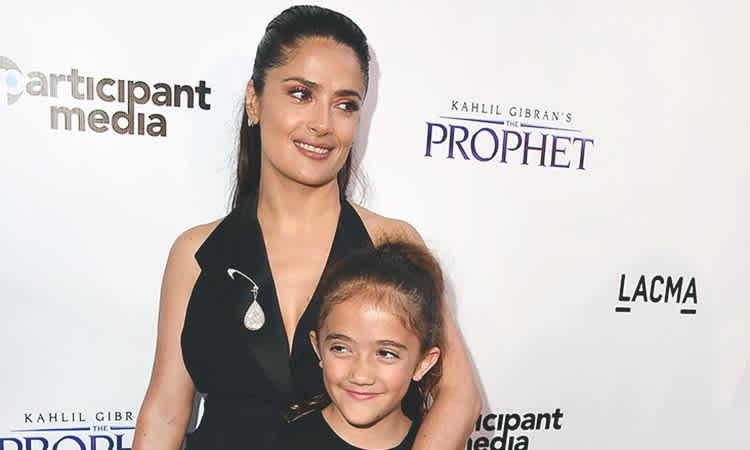 Salma Hayek Has Outing With Look Alike Daughter Mom Com
