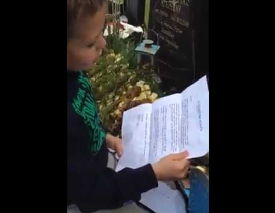 Boy Discovers 'Letter from Heaven' on Father's Day (and It